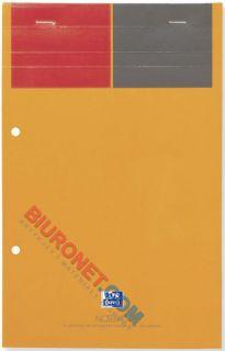 Blok biurowy A4+, Oxford Notepad, 80 żółtych kartek z perforacją w kratkę