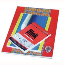 Blok biurowy InterDruk, 50 kartek w kratkę, zamykany od góry format A4