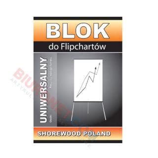 Blok do flipchartów Interdruk, 20 arkuszy, biały papier gładki
