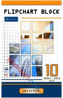 Blok do flipchartów Interdruk, biały papier w kratkę 64 x 100 cm 10 kartek