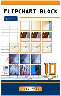 Blok do flipchartów Interdruk, gładki biały papier 64 x 100 cm 10 kartek
