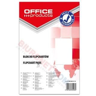 Blok do flipchartów Office Products, biały gładki, 50 arkuszy