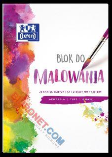 Blok do malowania farbami akwarelowymi Oxford, 20 kartek 120g