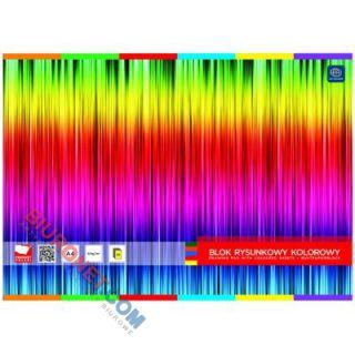 Blok rysunkowy Unipap, 20 kolorowych kartek