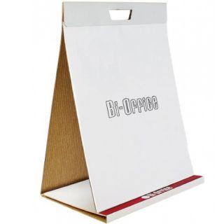 Blok samoprzylepny do flipchartów Bi-Office, gładki biały papier 50 x 58,5 cm, do postawienia 20 kartek