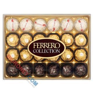 Bombonierka Ferrero Collection, praliny Raffaello, Rocher oraz Rondnoir
