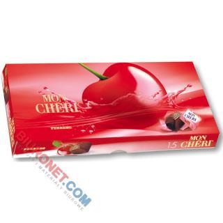Bombonierka Mon Cheri Ferrero, praliny czekoladowe z czereśnią w likierze