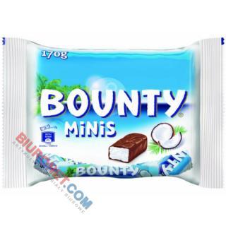 Bounty Minis, batoniki z nadzieniem kokosowym w czekoladzie