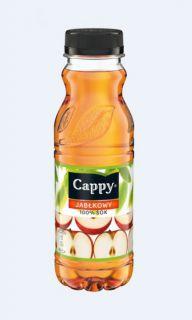 Cappy sok 100%, w plastikowa butelka 0,33L smak jabłkowy