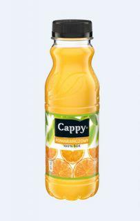 Cappy sok 100%, w plastikowa butelka 0,33L smak pomarańczowy