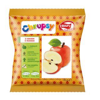 Chipsy owocowe Chrupsy Crispy Nartural, torebka 18g jabłko z sokiem mango