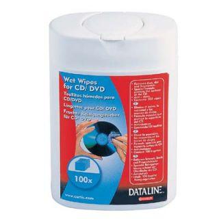 Chusteczki czyszczące do CD/DVD Esselte Dataline