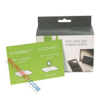 Chusteczki do czyszczenia ekranów TFT/LCD, Q-Connect