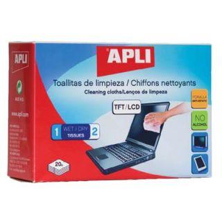Chusteczki do ekranów APLI, czyszczące do TFT/LCD