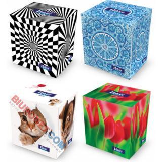 Chusteczki higieniczne Velvet Cube, w pudełku sześciennym