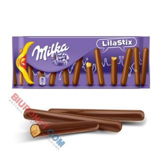 Ciastka MILKA Choco Lila Stix, kruche pałeczki w czekoladzie