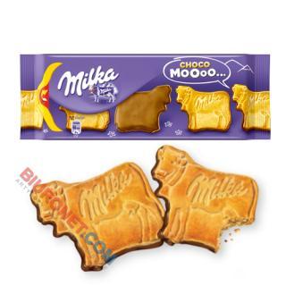 Ciastka MILKA Choco Moo, herbatniki w kształcie krówki z czekoladą