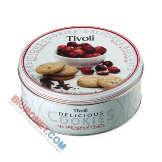 Ciastka Tivoli, kruche z dodatkami, w puszce 150g