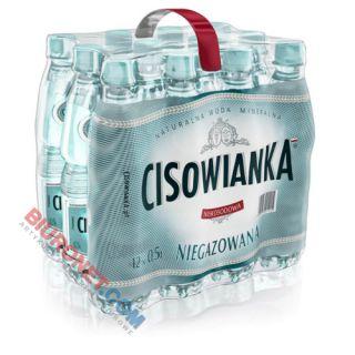 Cisowianka 0,5L x 12 sztuk, woda mineralna w butelkach PET niegazowana