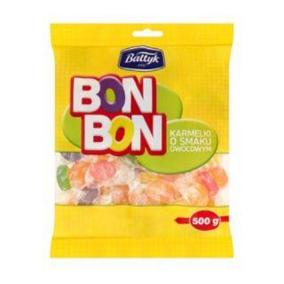 Cukierki BonBon Bałtyk, twarde karmelki owocowe 500g
