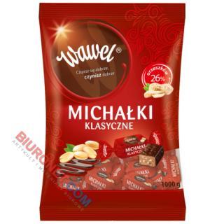 Cukierki Michałki Klasyczne Wawel, czekoladowe z orzechami