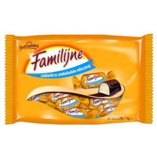 Cukierki w czekoladzie mlecznej Jutrzenka Familijne, z kremem o smaku śmietankowym 1kg