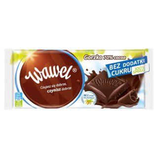 Czekolada bez cukru Wawel Gorzka, 70% cocoa 100g