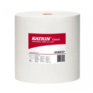 Czyściwo w rolce Katrin Classic Industrial Towel XL2 1040, białe ręczniki papierowe, makulaturowe, 2-warstwowe 1 rolka x 260 m