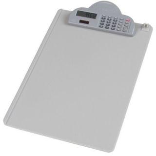 Deska A4 Deli, plastikowa podkładka do pisania z klipsem i kalkulatorem