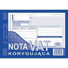 Druk - Nota korygująca VAT format A5