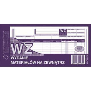 Druk - WZ - wydanie na zewnątrz, format 1/3 A4