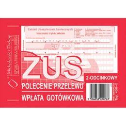 Druk - ZUS Polecenie Przelewu, A6 kpl. 2 odcinków