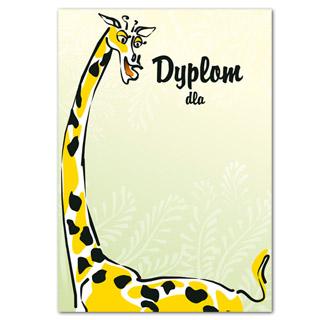 Dyplom ozdobny Żyrafa A4/170g