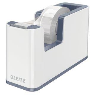 Dyspenser taśmy biurowej Leitz, ciężki, biały z kolorowym wykończeniem WOW szare wykończenie