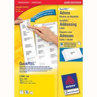 Etykiety adresowe AVERY Zweckform, na koperty C6, 100 arkuszy A4