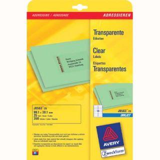 Etykiety adresowe AVERY Zweckform, poliestrowe, 25 arkuszy A4