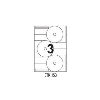 Etykiety na CD APLI, papierowe, 300 etykiet