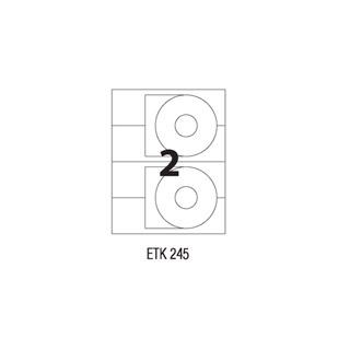 Etykiety na CD APLI, papierowe, 50 etykiet