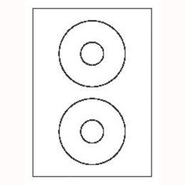 Etykiety na CD AVERY Zweckform Classic Size, papierowe, z nakładką centrującą, 50 etykiet