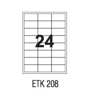Etykiety samoprzylepne APLI, papierowe, opakowanie 100 arkuszy A4