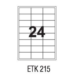 Etykiety samoprzylepne APLI, papierowe, opakowanie 100 arkuszy A4 70 x 35 mm