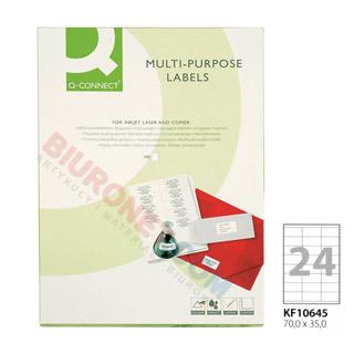 Etykiety samoprzylepne Q-Connect, papierowe, 100 arkuszy A4