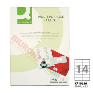 Etykiety samoprzylepne Q-Connect, papierowe, 100 arkuszy A4 105 x 42,3 mm