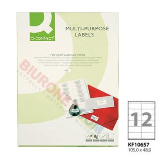 Etykiety samoprzylepne Q-Connect, papierowe, 100 arkuszy A4 105 x 48 mm