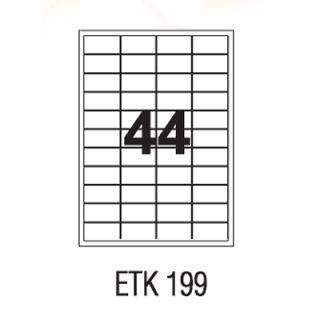 Etykiety uniwersalne APLI, papierowe, 100 arkuszy A4 48,5 x 25,4 mm