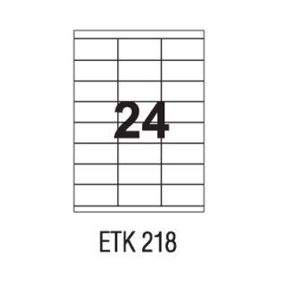 Etykiety uniwersalne APLI, papierowe, 100 arkuszy A4 70 x 37 mm