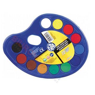 Farby akwarelowe Astra, farby wodne na paletce
