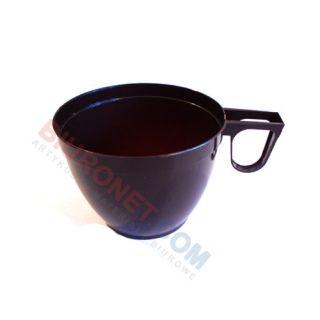 Filiżanki palstikowe, do kawy, brązowa z uchem