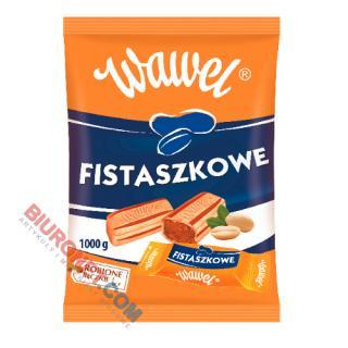 Fistaszkowe Wawel, cukierki - karmelki nadziewane