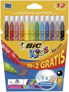 Flamastry szkolne Bic Kids Couleur 10 kolorów